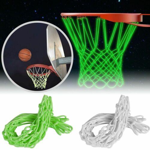 Glow In The Dark Light Sun Powered Basketball Hoop Net Shoots Training Net Green