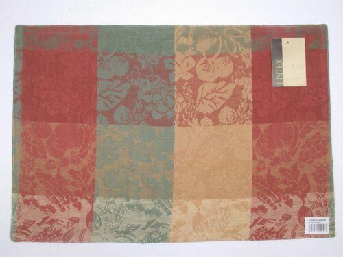 """6 Lintex 100/% Cotton Placemats ~ Black Squares ~ 13/"""" x 19/"""" **NEW**"""
