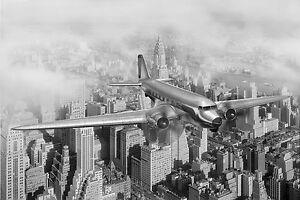 Impresionante-Nueva-York-Vintage-Avion-De-Lona-465-A1-imagen-colgante-de-pared-Arte