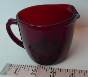 Ruby-Red-Glass-Creamer-mid-century