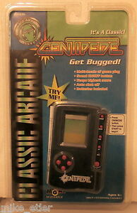 Centipede-Handheld-LCD-Game-Blue-Case-MGA-1997-New-in-package