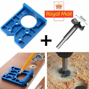 ABS Concealed Hinge Hole Jig For Kitchen Cabinet Doors With Drill Bit Tool UK