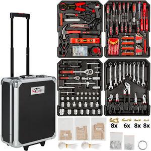 Mallette à outils trolley 616 pièces valise boite à tire caisse aluminium