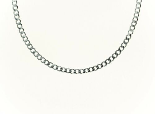 """4mm ITALY 925 Sterling Silver CURB Chain Necklace or Bracelet 8/"""" 30/"""""""