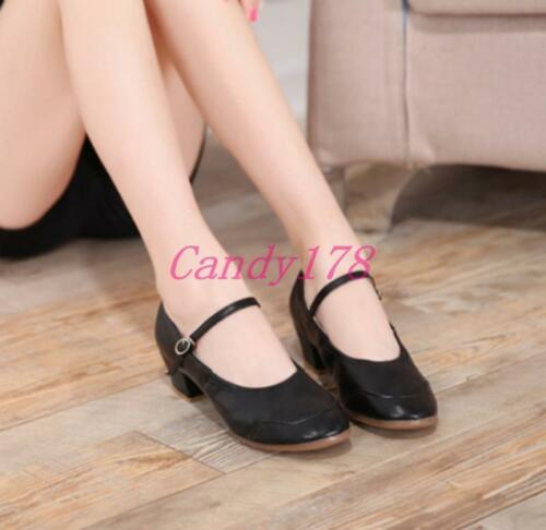 Womens Latin Adult Ballroom Soft Heel Tango Salsa Waltz Dancing Leather Shoes
