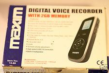 MAXIM DIGITAL VOICE RECORDER 13-60 2GB MEMORY (MP3 WAV)