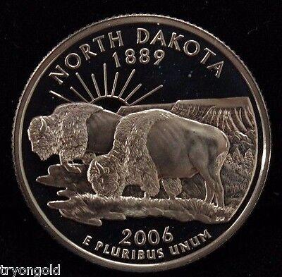Gem Proof Deep Cameo 2006-S South Dakota State Quarter Clad
