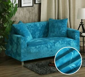 Astonishing Details About Embossing Velvet Universal Stretch Couch Slipcover Sectional Sofa Cover Home Interior And Landscaping Ponolsignezvosmurscom