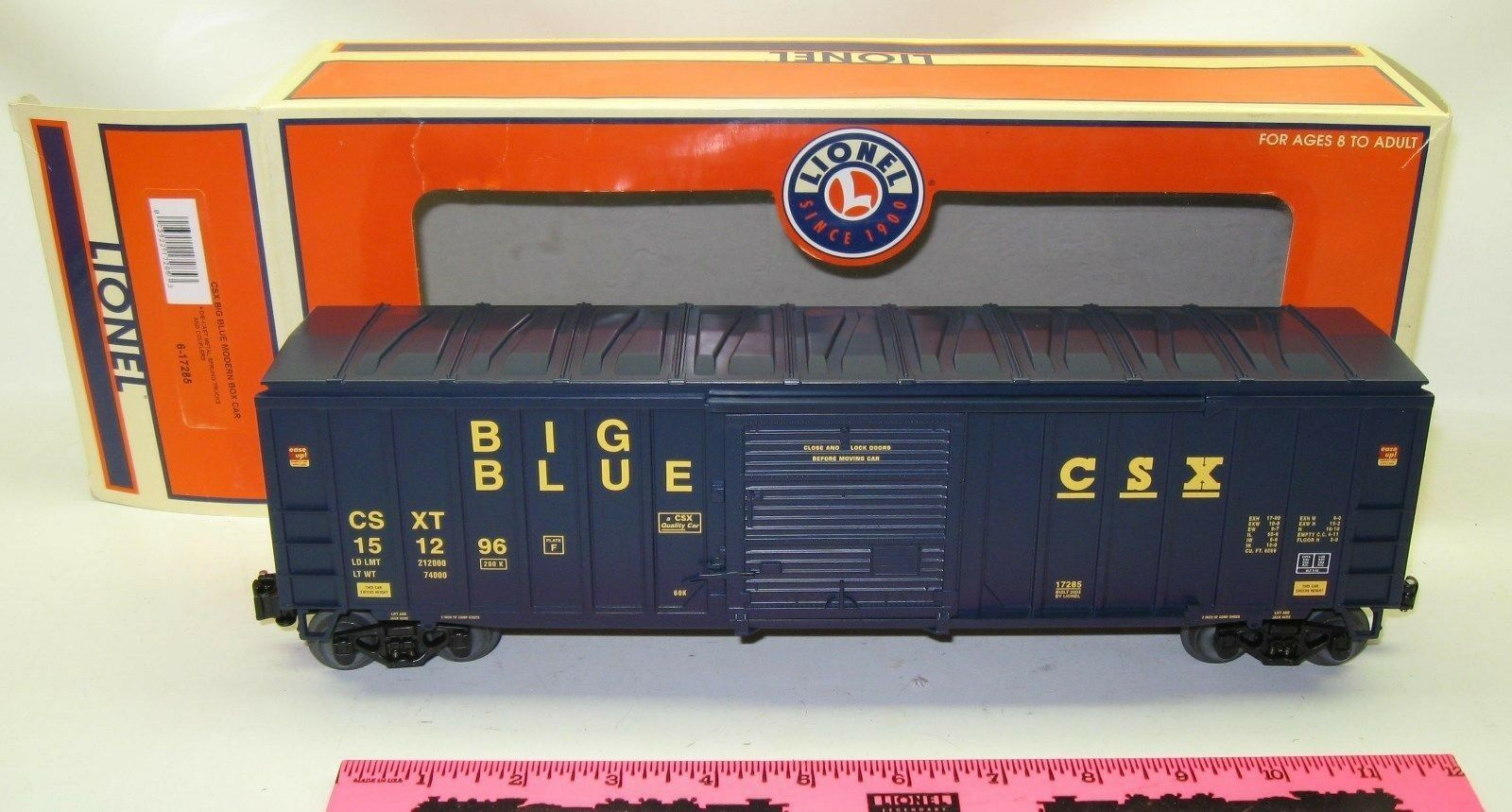 Lionel new 6-17285 CSX big bluee modern box car