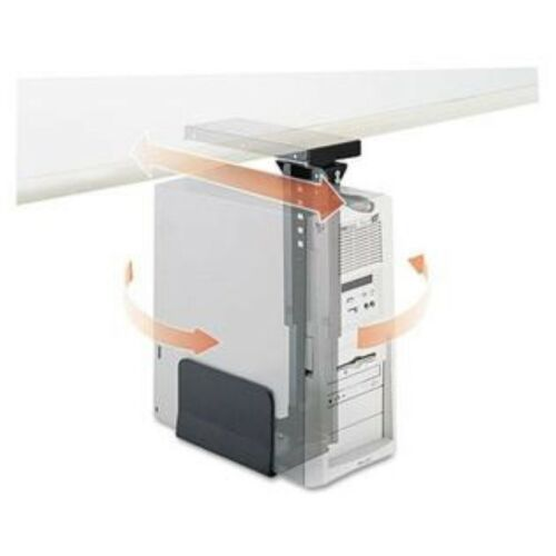 Safco Products 2175 SAF2175 Ergo-Comfort Swivel Slide Mount CPU Holder Black NEW