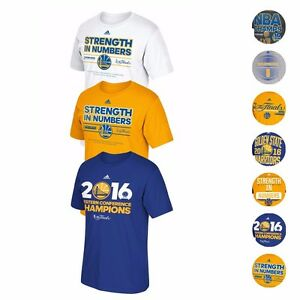 new style 42bc8 4bb13 Details about Golden State Warriors Adidas NBA Finals Championship  Commemorative T-Shirt Men's