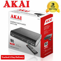 Akai A51002 Compact Dvd Player With Usb - Multi Region