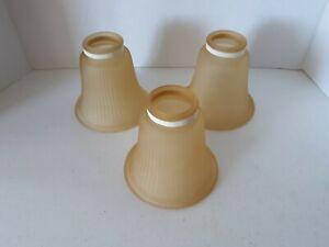 """"""" 3"""" Globes en Verre Luminaire Lampe Shades pour Ventilateur de plafond Jamais Installé,"""