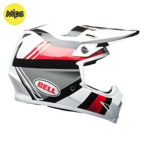 BELL-MX-9-MIPS-MOTOCROSS-MX-BIKE-HELMET-MARAUDER-WHITE-BLACK-RED