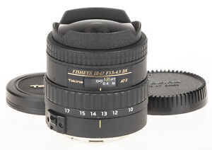 Tokina 10-17mm f/3.5-4.5 AT-X DX FISHEYE lens for Canon +caps   excellent condit