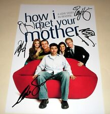 """HOW I MET YOUR MOTHER CAST X PP SIGNED 12""""X8"""" POSTER"""