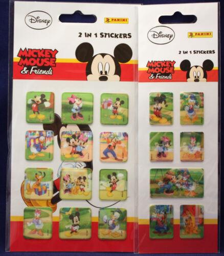 ** Mickey Mouse /& Friends ** 2 en 1 stickers ** NEUF ** panini **
