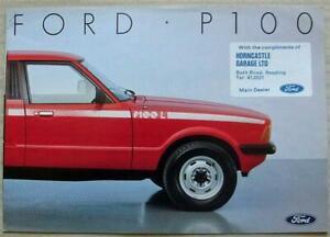 FORD P100 PICK UP TRUCK Dealers/Salesman's Brochure Aug 1985 #FB893