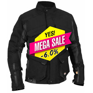 Mens-Waterproof-Motorbike-Motorcycle-Cordura-Jacket-All-Weather-Bike-Armour-Coat