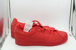 5cb5efe1507f68 Image is loading Adidas-Superstar-Low-Red-Suede-DS-Sz-10