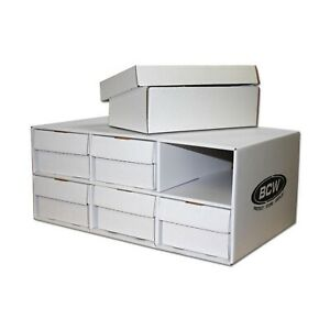 1-Cardboard-Sports-Card-House-with-Six-2-Row-1600ct-Storage-Boxes-Stackable