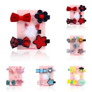 5X Toddler Star Bow Hair Mini Cute Clip Baby Barrettes Hairpins Clips