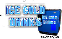 28 ice Cold Blue Horizontal Coca Cola Pepsi Cooler Pop Machine