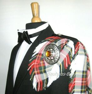 KILT FLY PLAID DRESS STEWART TARTAN FRINGED MADE IN SCOTLAND SCOTTISH WEAR KILTS