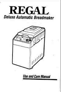 regal bread machine manual k6750 c6750 k6751 k6755 k6756 k6760 rh ebay com Regal Breadmaker Parts Regal Kitchen Pro K6725 Details