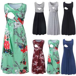 Women-Summer-Pregnancy-Maternity-Casual-Nursing-Tunic-Tank-Vest-Sleeveless-Dress