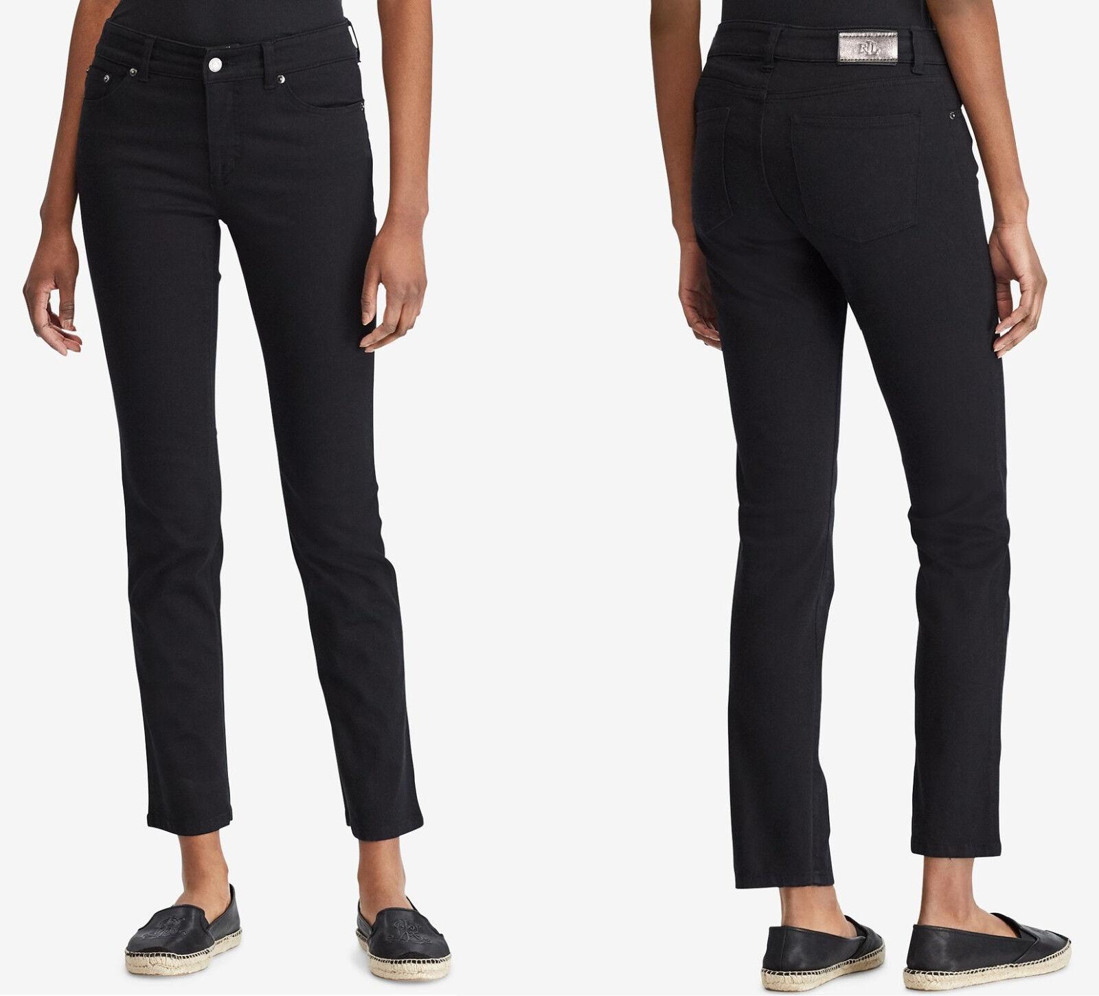 Lauren Ralph Lauren Super Stretch Premier Straight Jeans 18W x 32