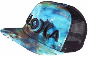 f3b30f951 Details about Hurley JJF 3 Aloha Snapback Trucker Hat NEW Nebula Black John  John Hawaii Beach