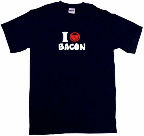I Don/'t Like Love Heart Bacon Mens Tee Shirt Pick Size /& Color Small 6XL