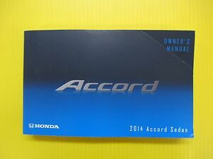 Honda Owners Manual >> Details About Accord Sedan 14 2014 Honda Owners Owner S Manual Oem