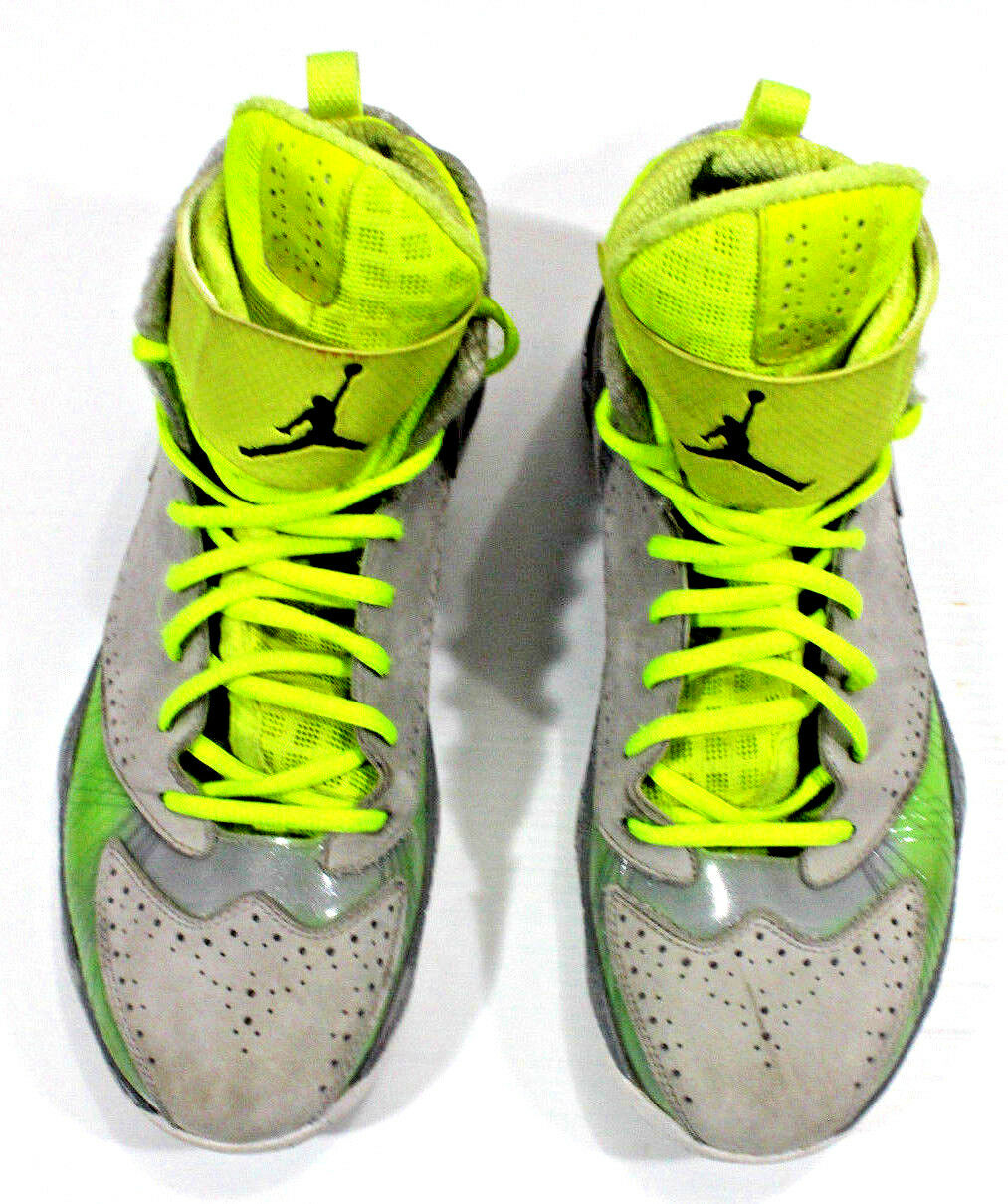 Nike Air Jordan Mens High Basketball Shoes Size 2012 Leather Gray 484654-001 Size Shoes 12 95f173
