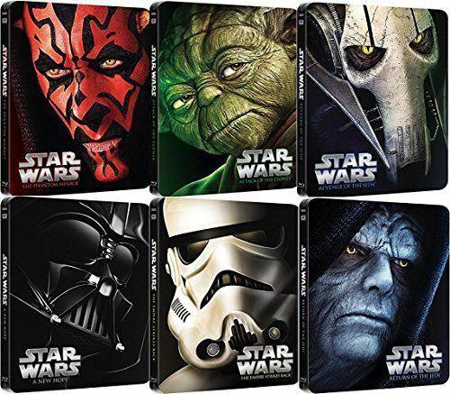 """Star Wars: episodios I II II IV V VI Blu-ray Steelbook Collection """"región libre"""""""