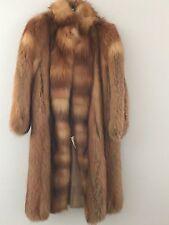 BEAUTIFUL WOMEN'S VINTAGE RUSSIAN RED FOX FUR COAT, SMALL / MEDIUM