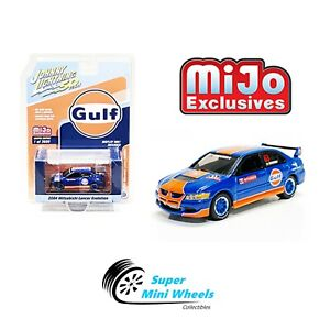 Johnny-Lightning-50th-2004-Mitsubishi-Lancer-Evolution-GULF-1-64
