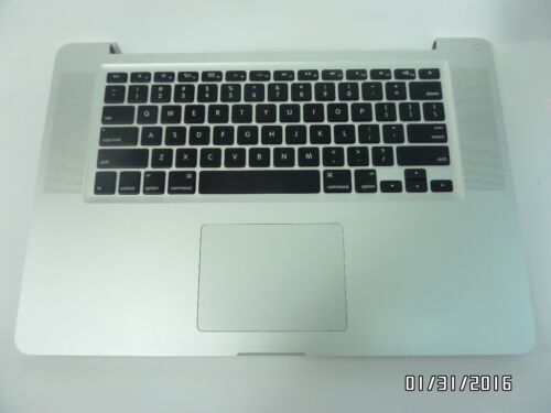 "APPLE KEYBOARD MACBOOK PRO UNIBODY A1286 069-6153-10 2011 15/"" PALM+TOUCH"