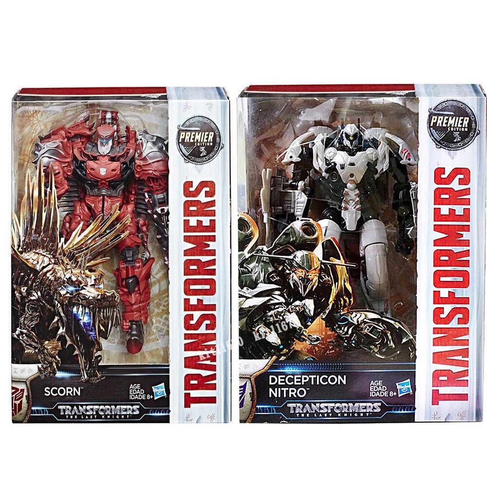 Transformers Last Knight Premier Edition Voyager Nitro & Scorn NEW