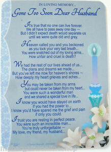 Christmas Graveside Memorial Card And Holder In Loving Memory Of A