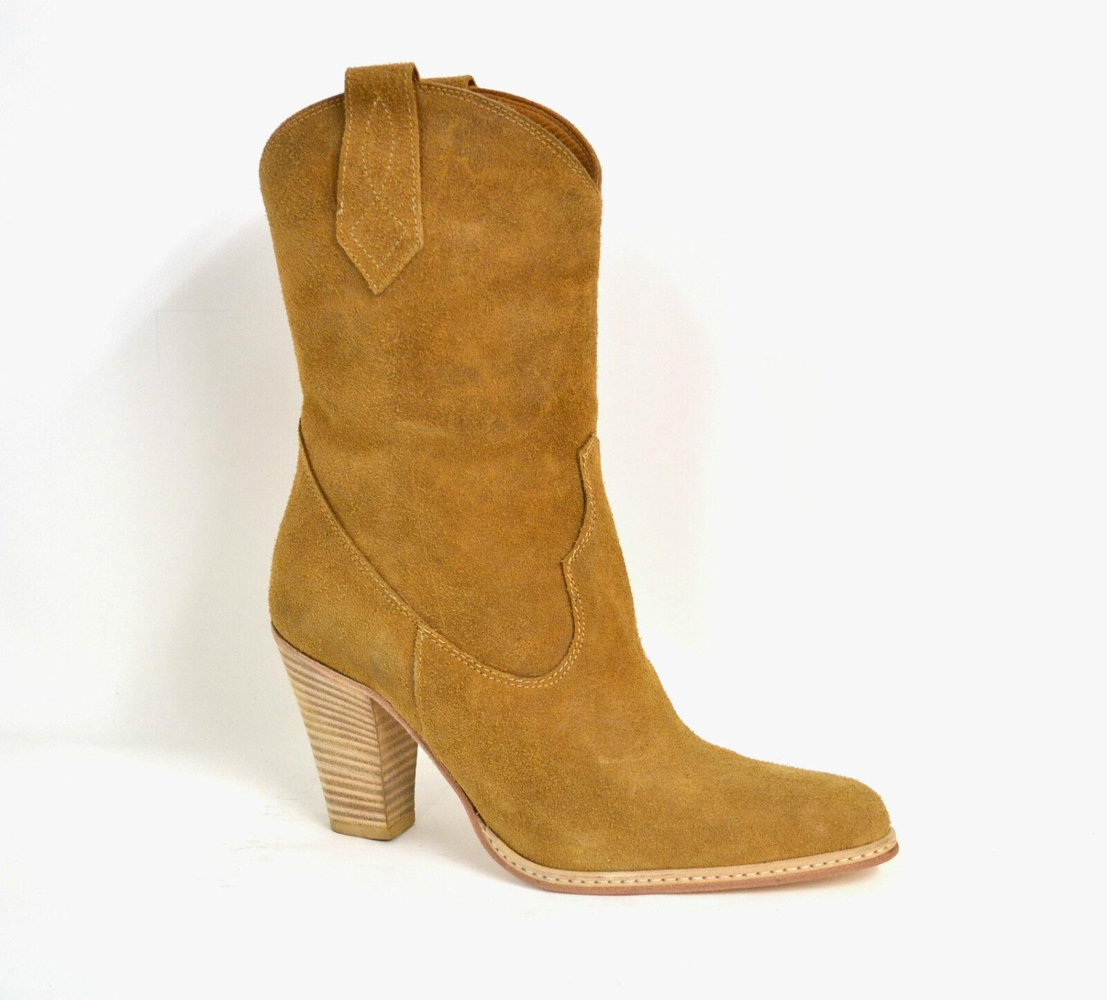Grandes zapatos con descuento STIVALI STIVALETTI DONNA TEXANO VERA PELLE SCAMOSCIATO MADE IN ITALY ARTIGIANALI