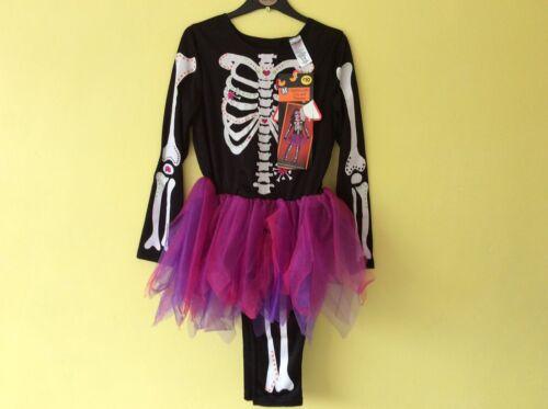 BNWT Halloween Squelette Avec Tutu Et Pantalon 9-10 ans