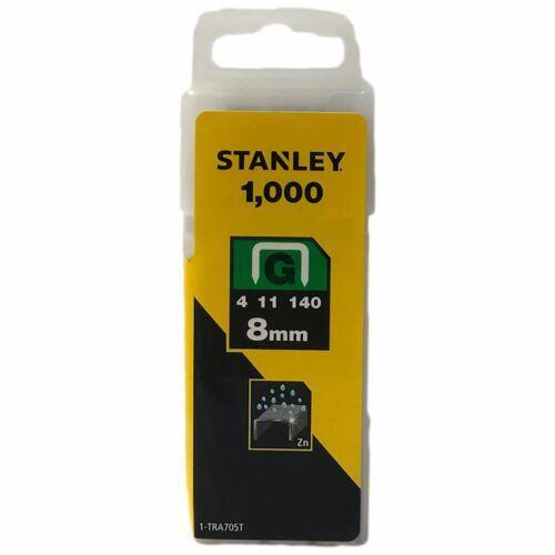 Stanley 1000pc Sharpshooter Schwerlast Klammern 6 8 10 12 14mm Typ G 4//11//140