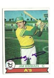 Jim Essian 1979 Topps autographed auto signed card Oakland A's