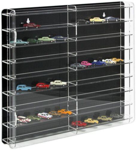 Sora modelo vitrina con negro plano posterior para 1:87 coches de modelo y Trucks