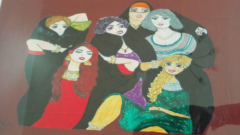 Akrylmaleri, ukent, motiv: Fantasy
