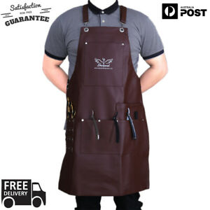 Professional-Leather-Brown-Hairdressing-Barber-Apron-Cape-for-Barber-Hairstylist