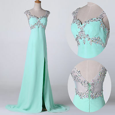 Long Beading formal evening Party Ball gowns Homecoming Bridesmaid prom dresses