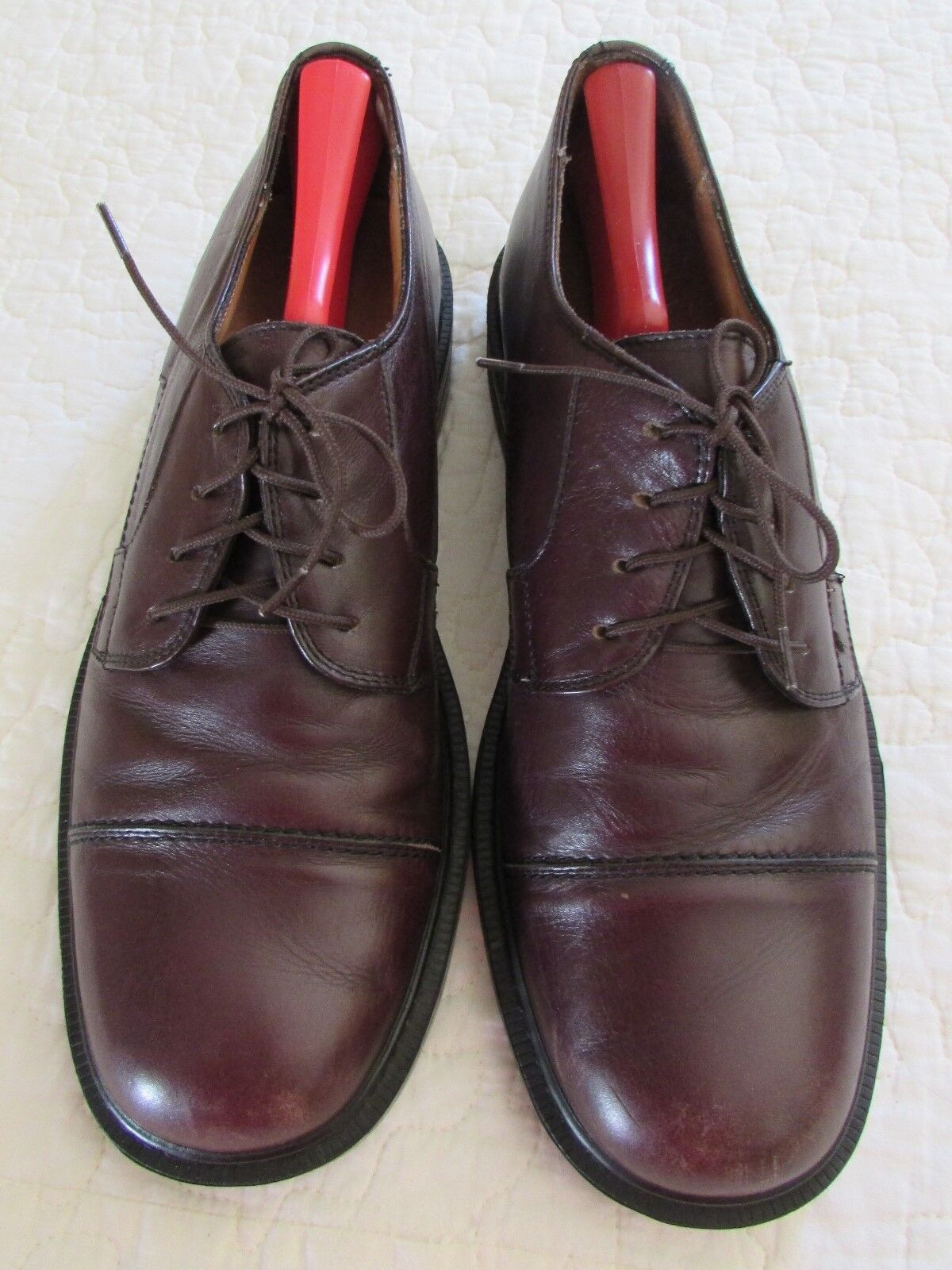 CLARKS Cap Toe Dress Cordovan Leather Comfort Oxford Dress Toe Shoes 11M Italy 35526 ff12ac